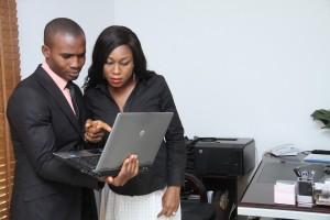 black male female colleagues