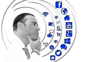 man social media